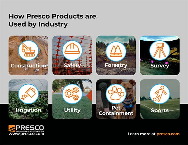 Presco Marking Products – Use by Industry