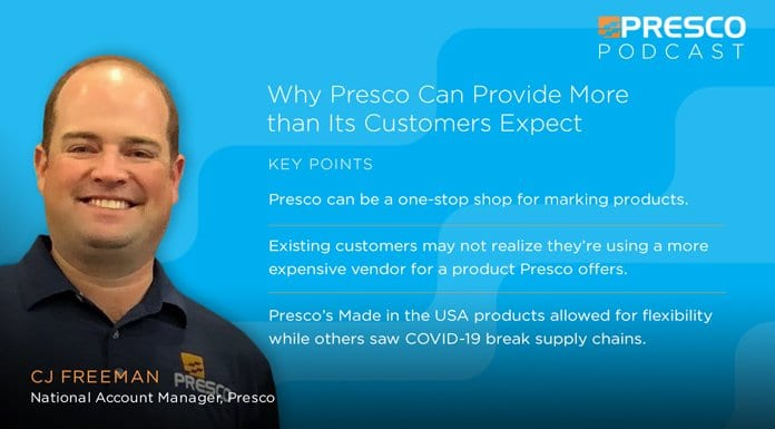 Marking Minute: Why Presco Can Provide More than Its Customers Expect