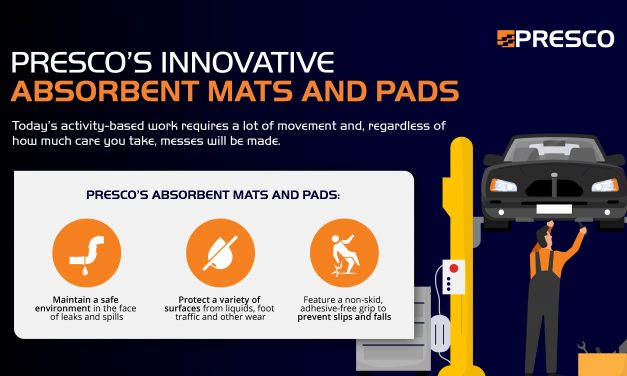 Presco's Innovative Absorbent Mats and Pads